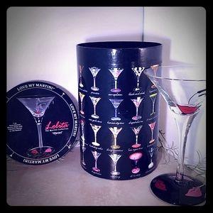 Lolita Flirtini Hand Painted Martini Glass